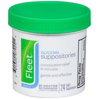 Fleet Glycerin Suppositories, Adult