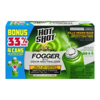 Hot Shot 2-Ounce Fogger with Odor Neutralizer, Insect Killer, 4 Pack