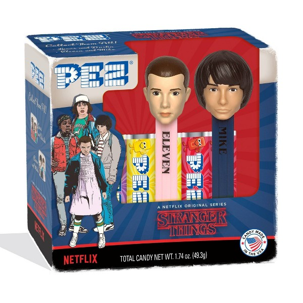 Stranger Things 1.74oz Pez Dispenser & Candy 2pk (Characters May Vary)