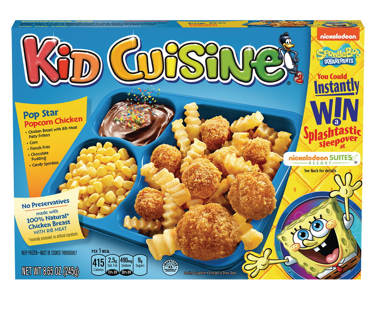 KID CUISINE Cowabunga Popcorn Chicken Meal With French Fries, Corn and Chocolate Pudding, 8.65 oz
