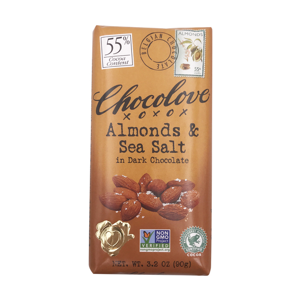 Chocolove Almonds & Sea Salt In Dark Chocolate, 3.2 oz