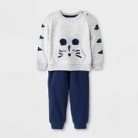 Baby Boys' 2pc Top & Bottom Set - Cat & Jack™ Heather Gray