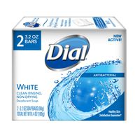 Dial Antibacterial Deodorant Bar Soap, White