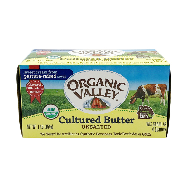 Organic valley Organic Unsalted Cultured Butter, 16 oz