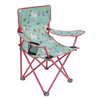 Crckt Kids Folding Camp Chair with Safety Lock (125lb Capacity) Unicorn Print