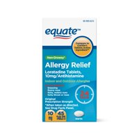 Equate Loratadine Tablets 10 mg, Allergy Relief 45 Count