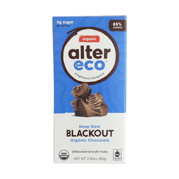 Alter eco Organic Dark Blackout Chocolate Bar, 2.82 oz
