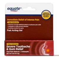Equate 0.25 Oz. Severe Toothache & Gum Relief Antiseptic Gel