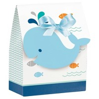 12ct Blue Baby Whale Favor Bags