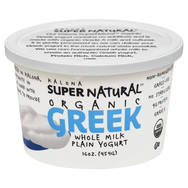 Kalona Super Natural Yogurt, Organic Greek, Whole Milk, Plain