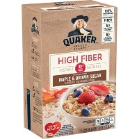 Quaker Select Starts High Fiber Maple & Brown Sugar Instant Oatmeal - 8ct/12.6oz