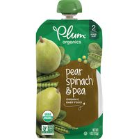 Plum Organics® Pear, Spinach & Pea Baby Food