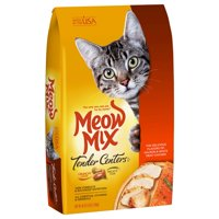 Meow Mix Tender Centers Salmon & White Meat Chicken Flavors Dry Cat Food, 3 lb