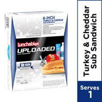 Lunchables Uploaded with Turkey & Cheddar Sub Sandwich, 15 oz Box