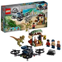 LEGO Jurassic World Dilophosaurus on the Loose 75934 Action Helicopter Drone Dinosaur Figure Building Toy (168 Pieces)