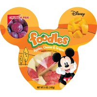 Crunch Pak Disney Foodle Apple and Cheese Snacks - 5oz