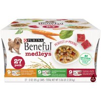 (27 Pack) Purina Beneful Wet Dog Food Variety Pack, Medleys Tuscan, Romana & Mediterranean Style - 3 oz. Cans
