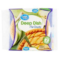 """Great Value Deep Dish 9"""" Pie Crusts, 16 oz, 2 Count"""