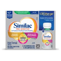 Similac Pro-Sensitive Infant Formula with 2'-FL Human Milk Oligosaccharide (HMO) for Immune Support, Ready to Drink Bottles, 8 fl oz (6 count)