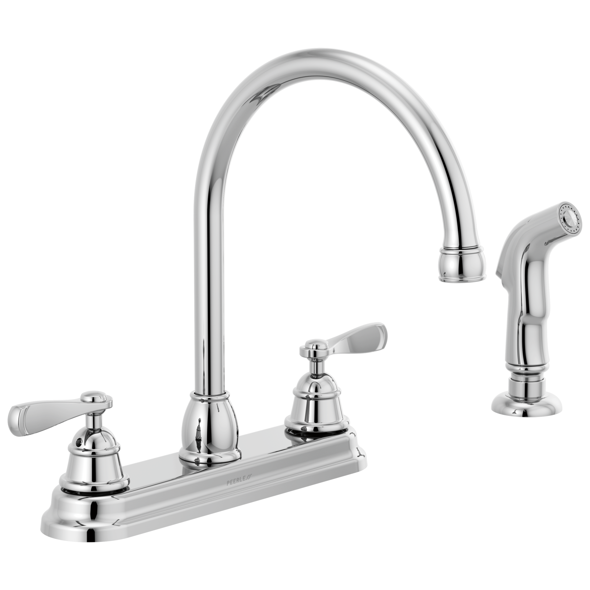 Peerless Two Handle Deck-mount Kitchen Faucet in Chrome
