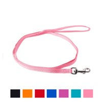Vibrant Life Solid Nylon Dog Leash, Pink, Small, 5-ft, 3/8-in