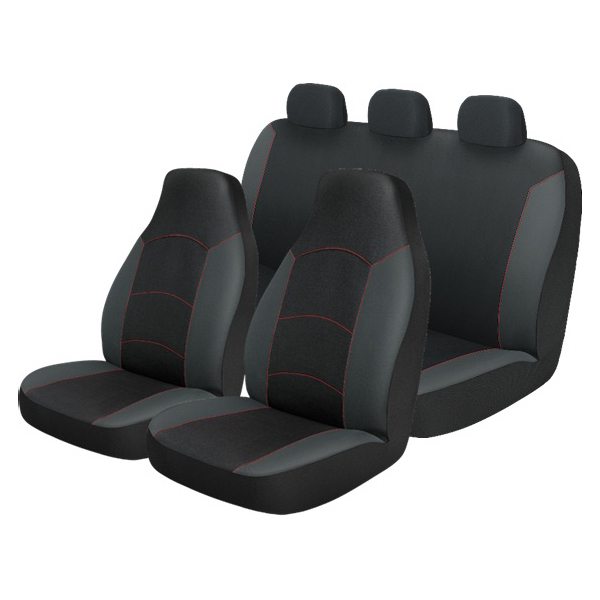 Auto Drive 3 Piece Front and Rear Seat Covers, Monarco Black