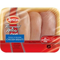 Tyson Trimmed & Ready Boneless Skinless Antibiotic Free Chicken Breast - 0.8-2.49lbs - priced per lb