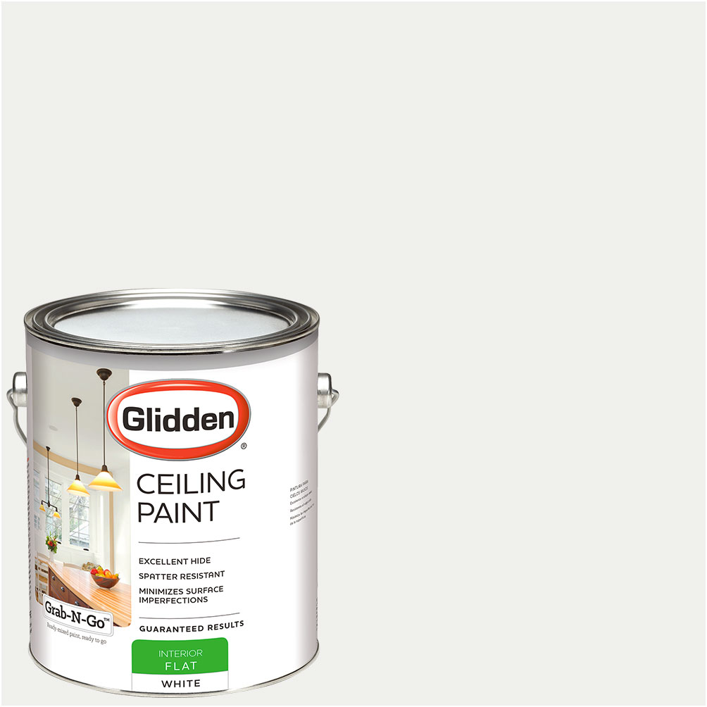 Glidden Ceiling Paint, Grab-N-Go, Interior Paint, White, Flat Finish