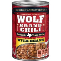 WOLF BRAND Chili With Beans, 15 oz.