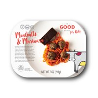 THE GOOD KITCHEN KID Sweet Potato Noodles with Meatballs and Marinara