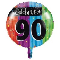 Milestone Celebrations 90th Birthday Mylar Balloon