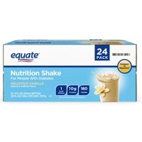Equate Vanilla Nutrition Shake for People with Diabetes, 8 Fl oz, 24 Count