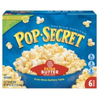 Pop Secret Extra Butter Microwave Popcorn, 3.2 Oz, 6 Ct