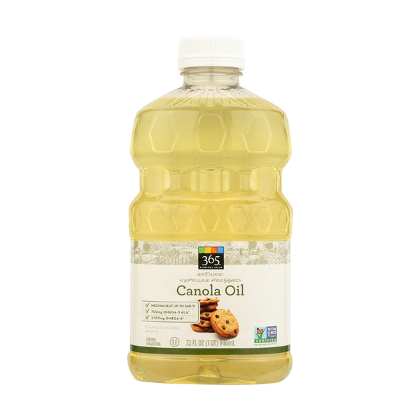 365 everyday value® Refined Expeller Pressed Canola Oil, 32 FL OZ