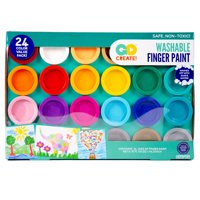 Go Create! Washable Finger Paint Non-Toxic, 24 Count
