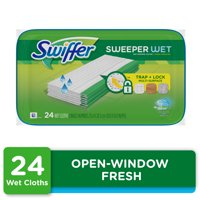 Swiffer Sweeper Wet Mopping Pad Refills, Open Window Fresh, 24 Ct