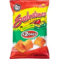 Sabritones Puffed Wheat Snacks, Chile & Lime, 4 oz Bag