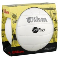 Wilson Official Size and Weight Soft Play Outdoor Volleyball, White