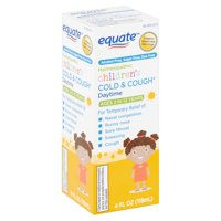 Equate Children's Homeopathic Daytime Cold & Cough Liquid, Ages 2 to 12 Years, 4 fl oz