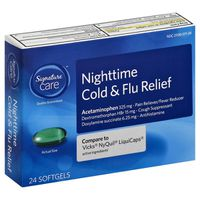 Signature Cold & Flu Relief, Nighttime, Softgels