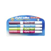 Expo Low-Odor Dry-Erase Marker Set, Fine Tips, Tropical Colors
