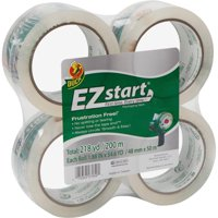 Duck EZ Start Packing Tape 1.88 in. x 54.6 yd., Clear, 4-Count