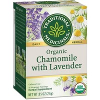 Traditional Medicinals Organic Chamomile with Lavender Herbal Tea - 16ct