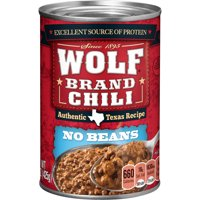 WOLF BRAND Homestyle Chili Without Beans, 15 oz.