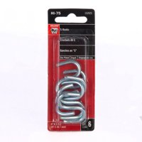 Bulldog Hardware #7 1-1/2 in. S Hook, Zinc Plated, 6 Pack