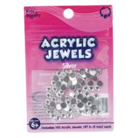 Kids Craft Acrylic 5 Millimeter Clear Stones, 1 Each