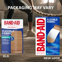 Band-Aid Brand Flexible Fabric Adhesive Bandages, Extra Large, 10 ct