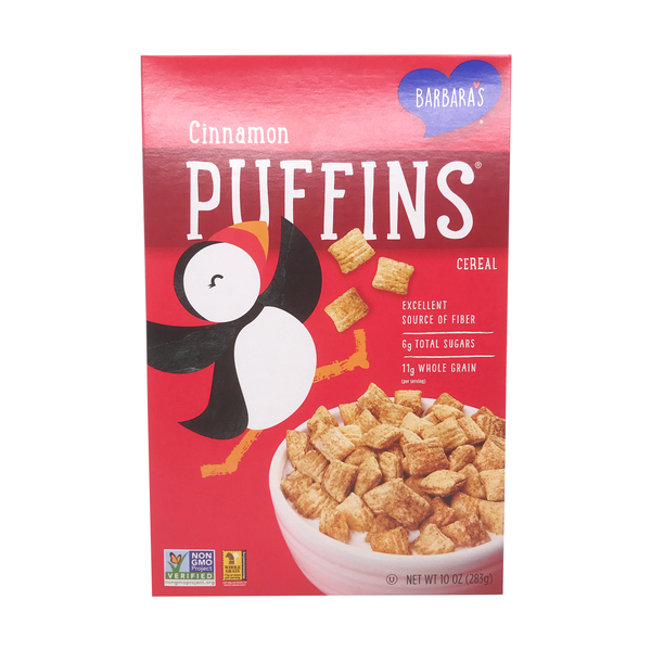 Barbara's bakery Cinnamon Puffins Cereal, 10 oz