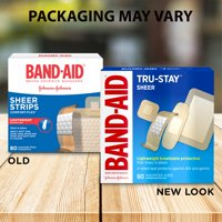 Band-Aid Brand Tru-Stay Sheer Strips Adhesive Bandages, All One Size, 80 ct