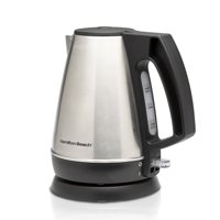 Hamilton Beach 1 Liter Electric Kettle, Tea and Hot Water Heater, Stainless Steel, Cordless Serving Model 40901